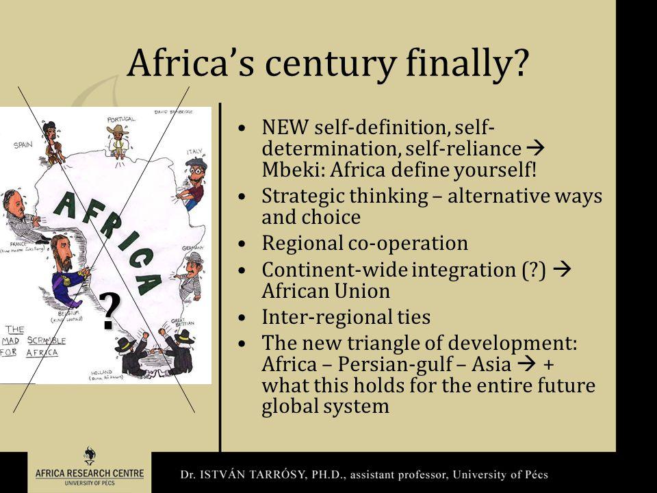 Africa's century finally.