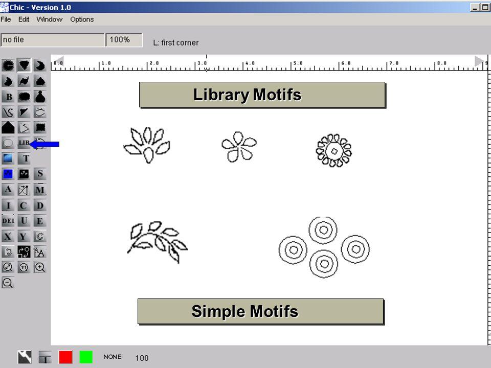 17 Library Motifs Library Motifs Simple Motifs Simple Motifs