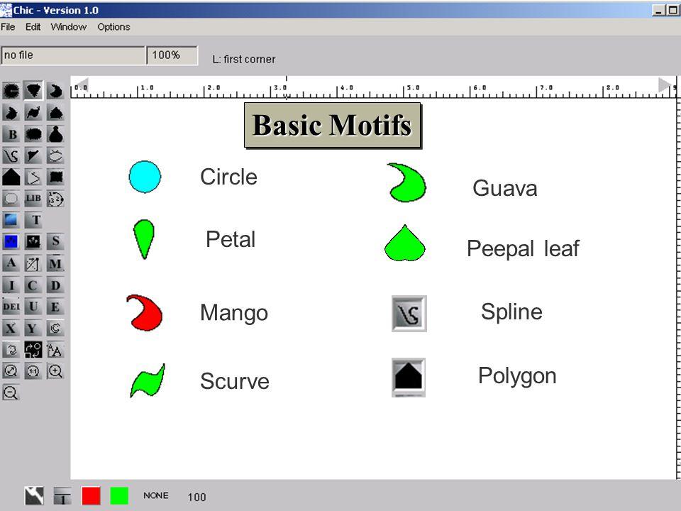 8 Peepal leafPetal Scurve Mango Guava Basic Motifs Basic Motifs Circle Spline Polygon