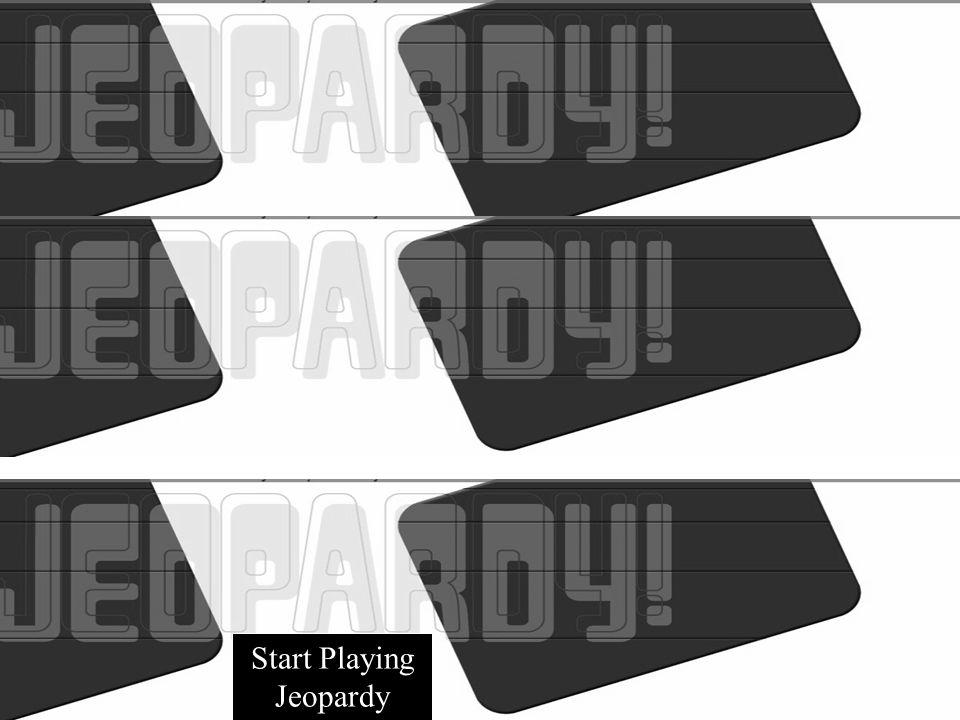 Start Playing Jeopardy