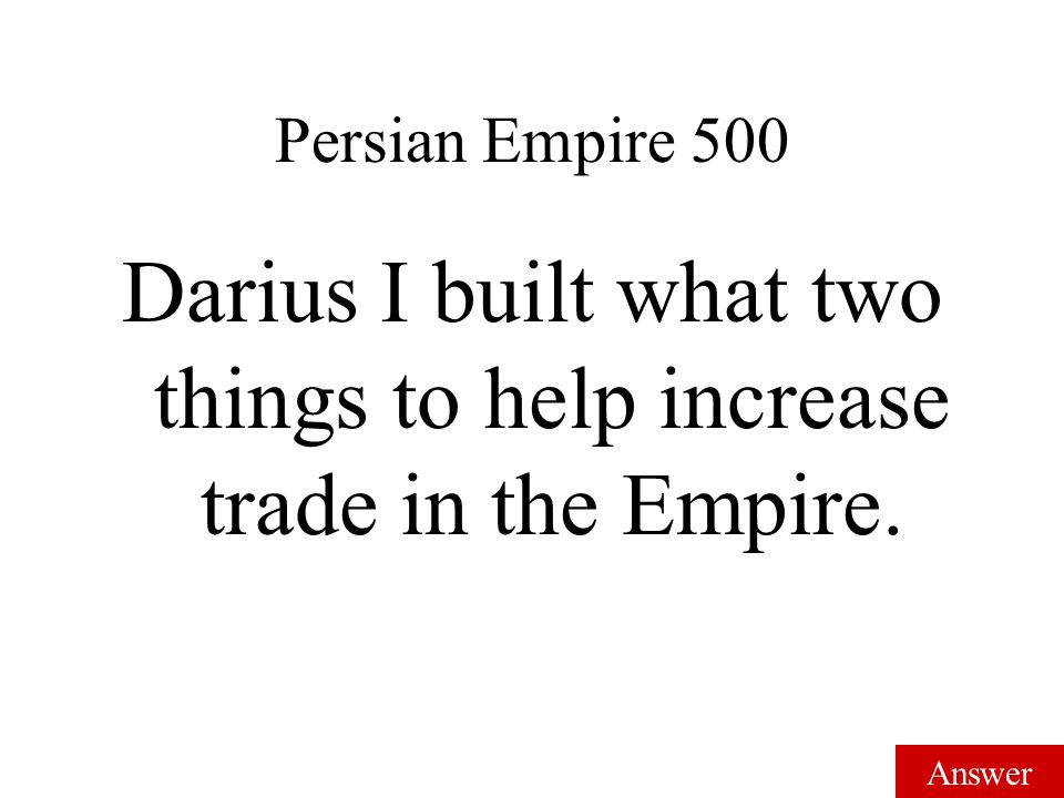 Answer Persian Empire 400 Alexander the Great