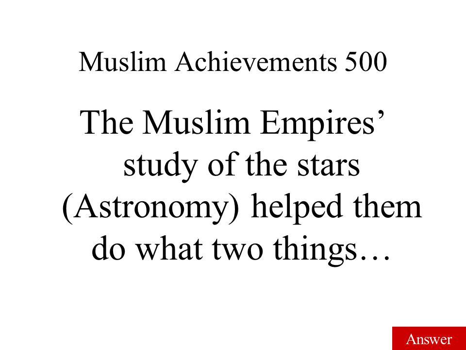Answer Muslim Achievements 400 Astrolabe