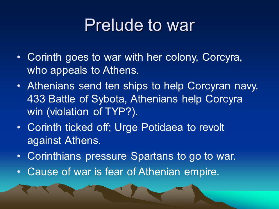 The Archidamian War Named for the Spartan king so prominent in the war.