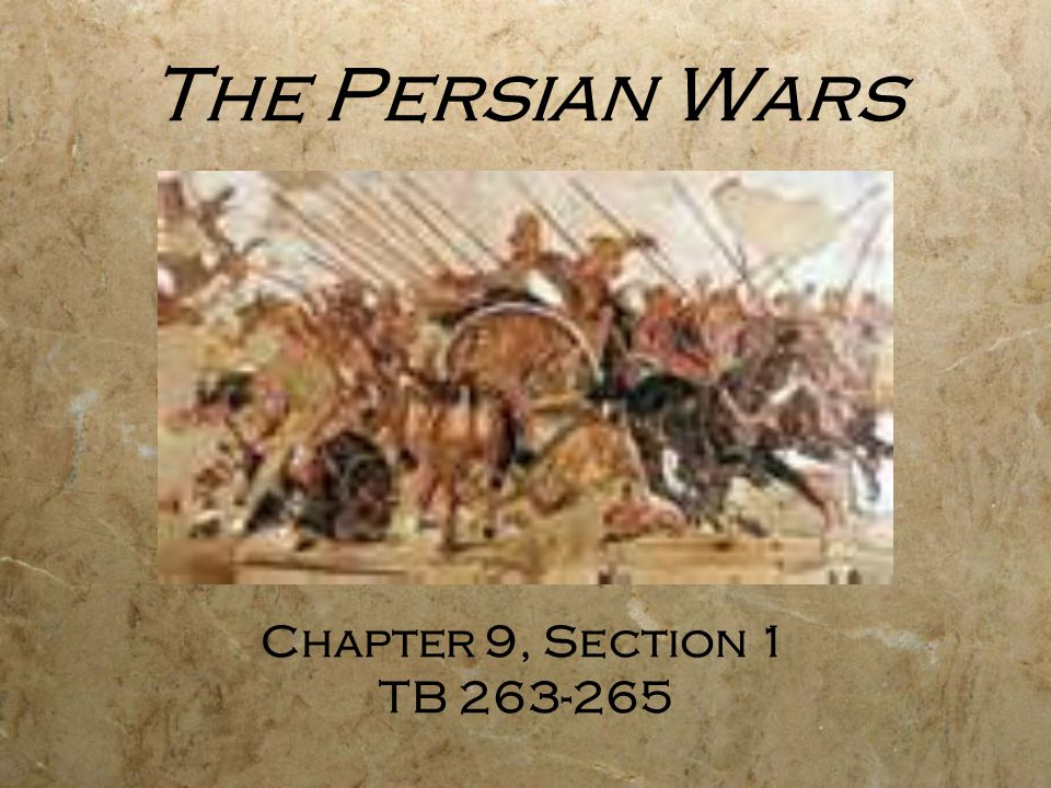 The Persians Fight Greece  City-states rebelled against Persian rule.