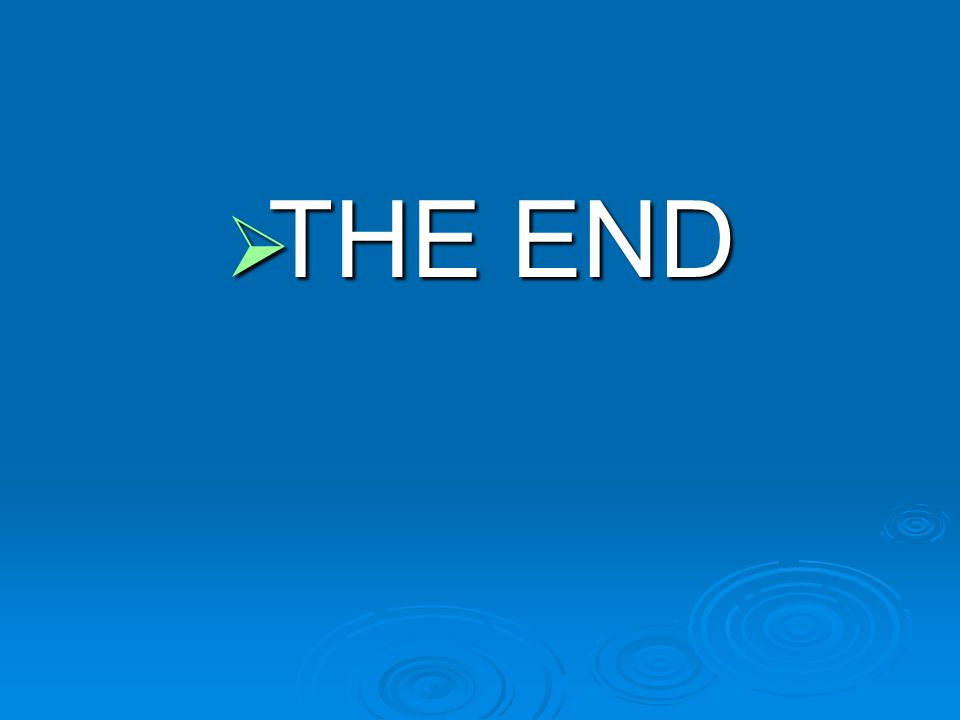  THE END