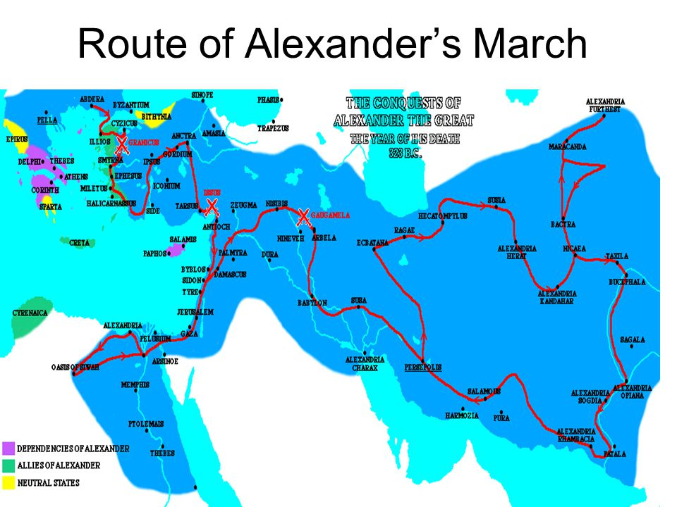Route of Alexander's March