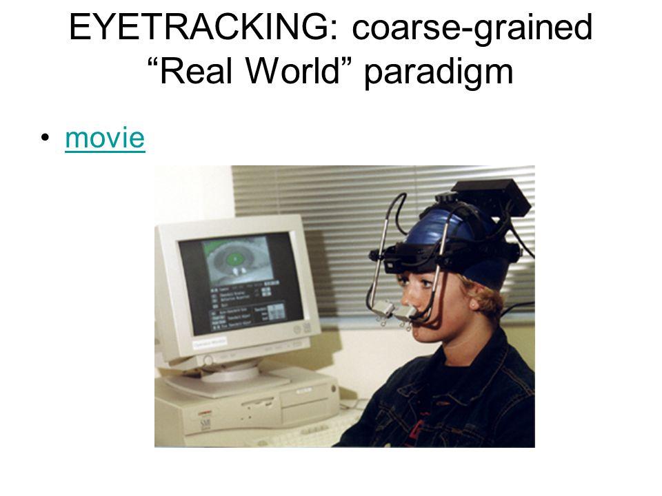 "EYETRACKING: coarse-grained ""Real World"" paradigm movie"