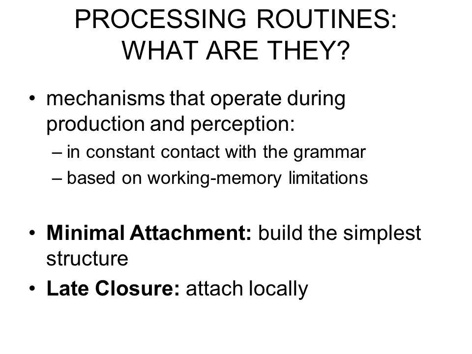 ASSETS & LIABILITIES of questionnaire procedures.