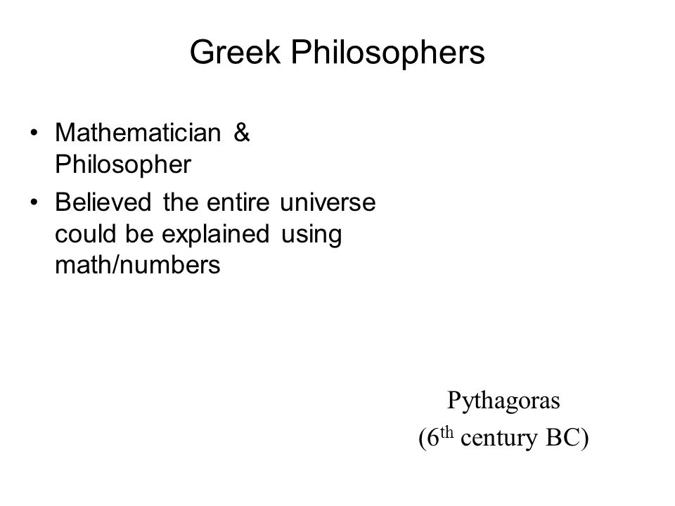 Philosophy & Ideas Wrote Hippocratic Corpus concerning medical ethics & theories.