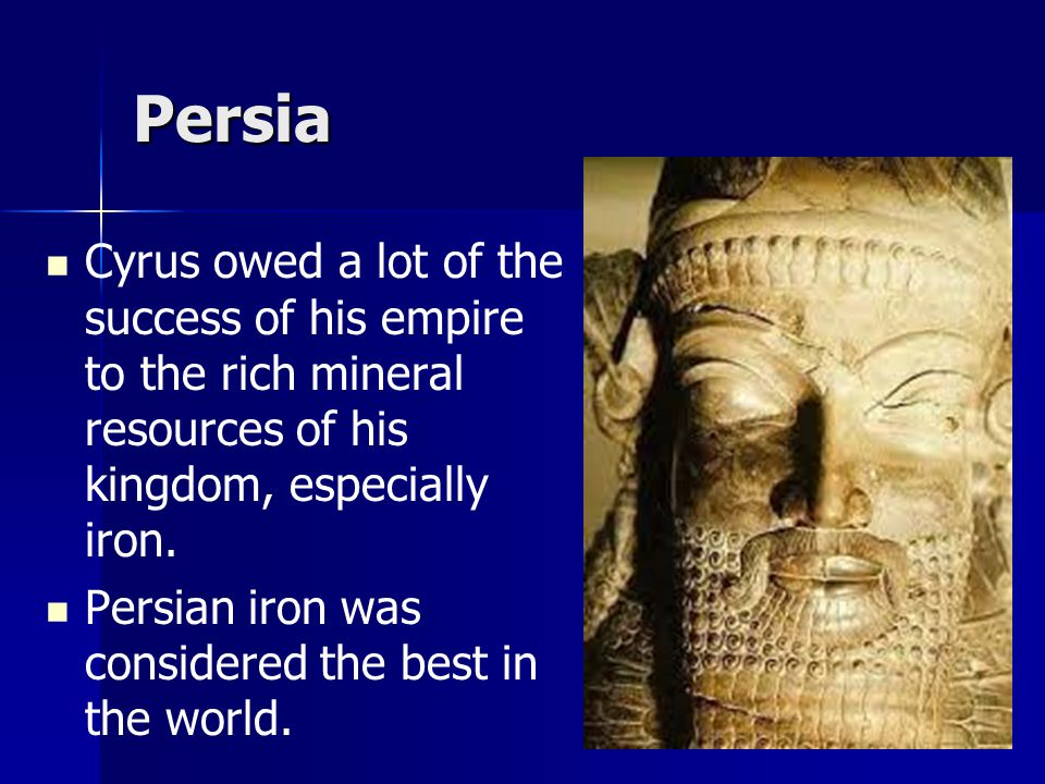 Persia In 1971, the Cyrus Cylinder was described as the world's first charter of human rights and it was translated into all six official U.N.