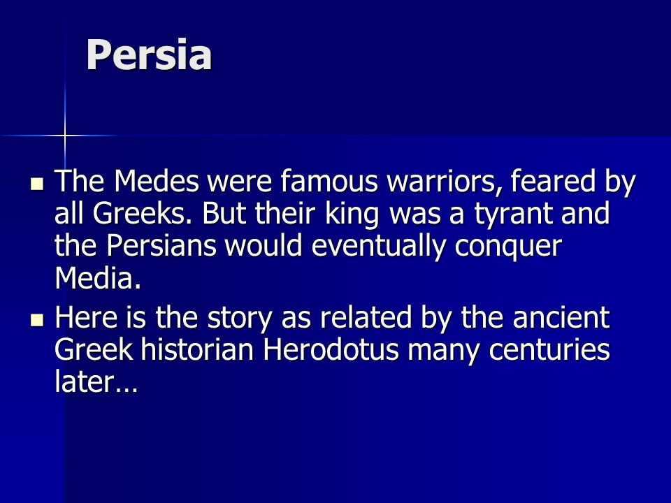 Persia The Persians should have learned, according to Herodotus, that a small army of free men—in this case the Greeks—fighting against an invasion of their country will defeat a much larger professional army fighting as the slaves of a despot.