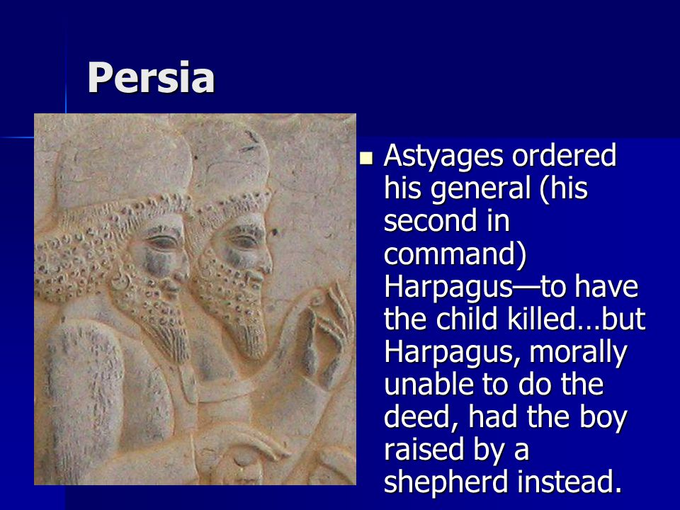 Persia Starting with Cyrus, the empire centered on an elaborate cult of kingship in which the monarch, secluded in royal magnificence, could be approached only through an elaborate ritual (you had to crawl on your belly then kiss the feet of the king).