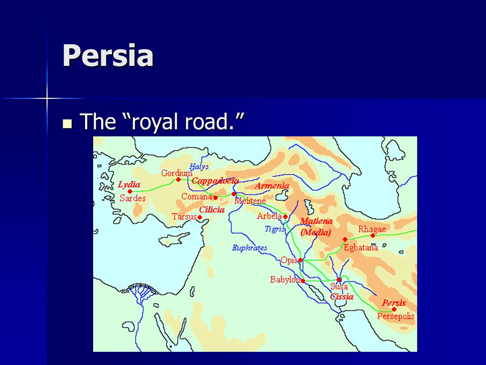 Persia The Persian infrastructure included a system of standardized coinage, predictable taxes levied on each province, and a newly dug canal linking the Nile with the Red Sea, which greatly increased commerce and enriched Egypt.