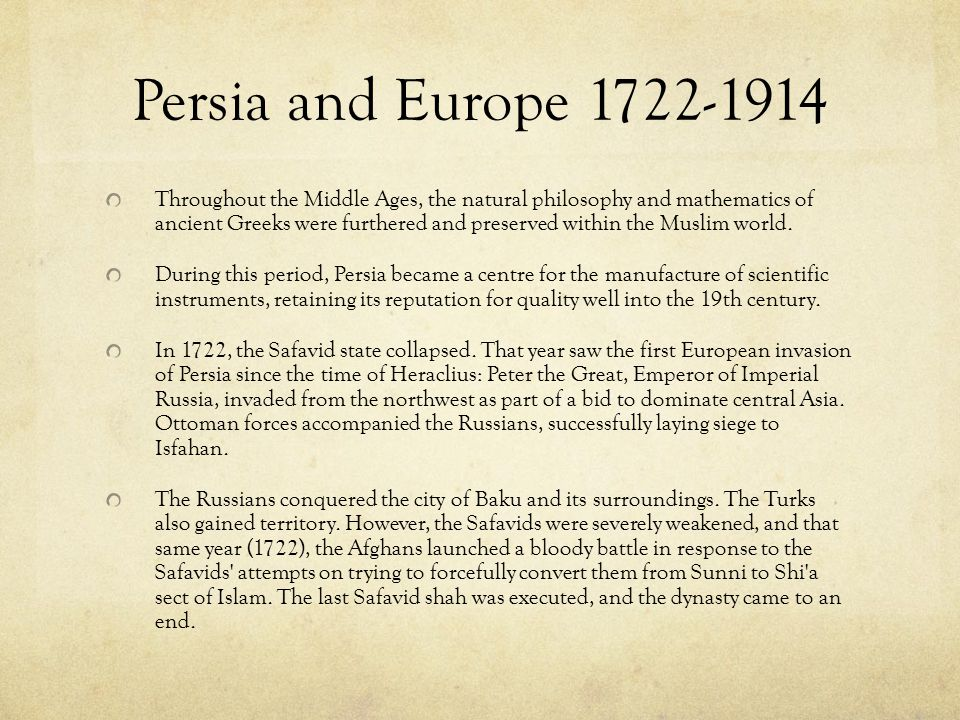 The Persian Empire The Safavids were followers of Shi'a Islam, and under them Persia (Iran) became the largest Shi'a country in the Muslim world, a po