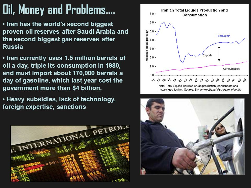Oil, Money and Problems….
