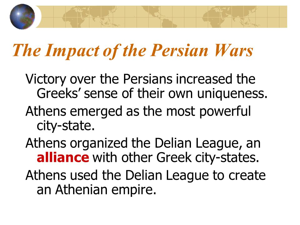 The Persian Wars Despite their cultural ties, the Greek city- states were often in conflict with one another. The threat of the powerful Persian empir