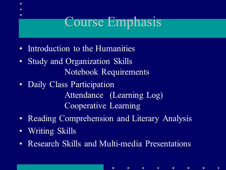 Course Texts Course anthology Thomson, Eileen (ed.).