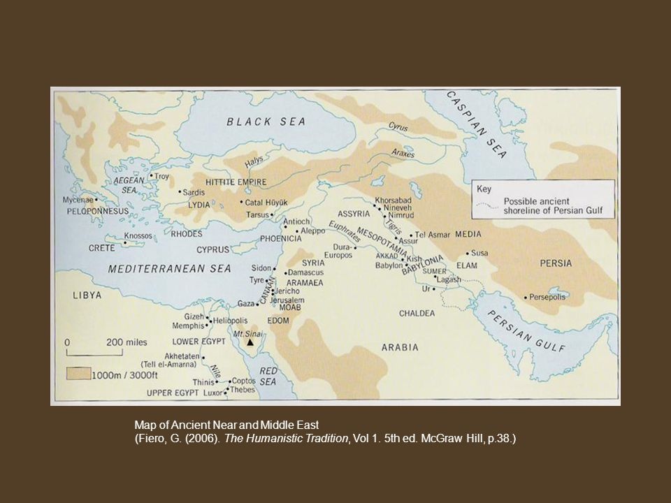 Map of Ancient Near and Middle East (Fiero, G. (2006).