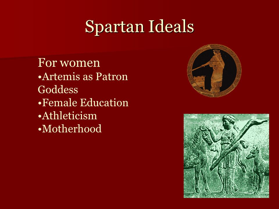 Spartan Ideals For women Artemis as Patron Goddess Female Education Athleticism Motherhood