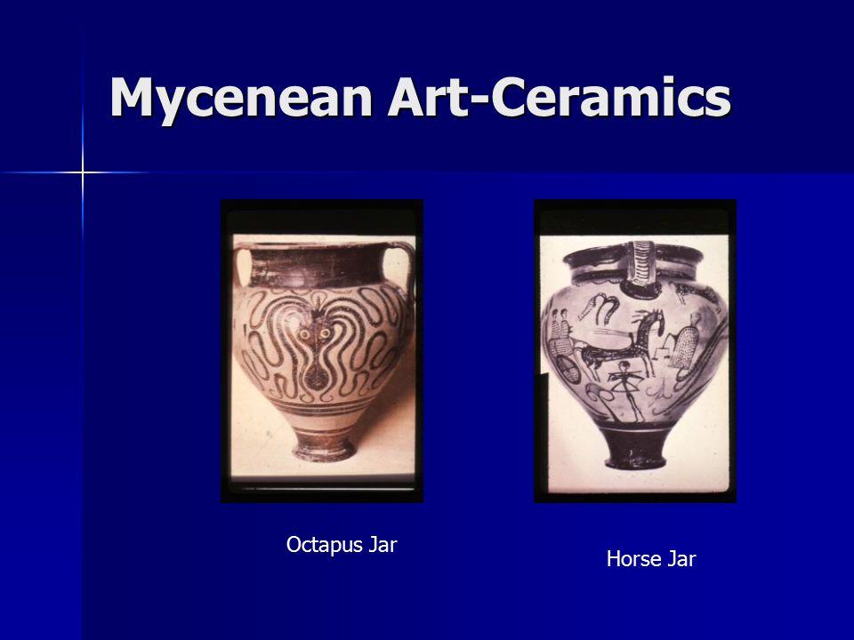 Mycenean Art-Ceramics Octapus Jar Horse Jar