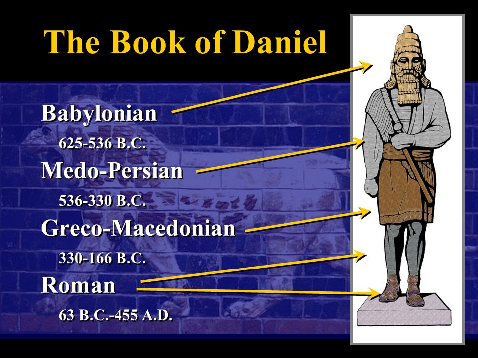 The Book of Daniel Babylonian 625-536 B.C. Medo-Persian 536-330 B.C.