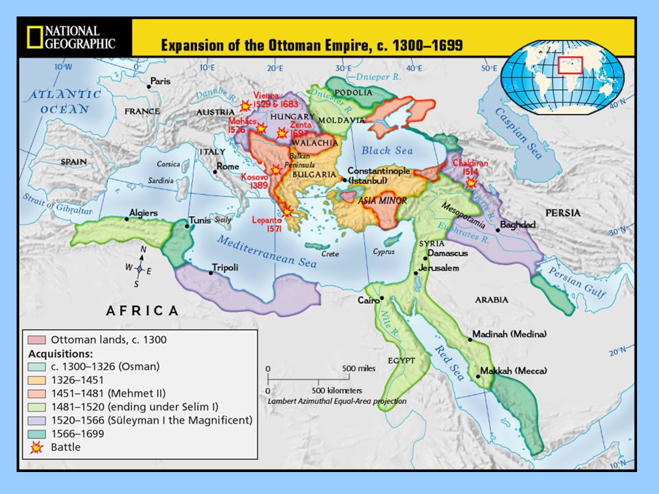 Europe Ottomans conquest of Europe was stopped by the Hungarians at the Danube Valley Turks were defeated in Vienna, Austria in 1529 Ottoman fleet was destroyed by the Spanish at Lepanto in 1571