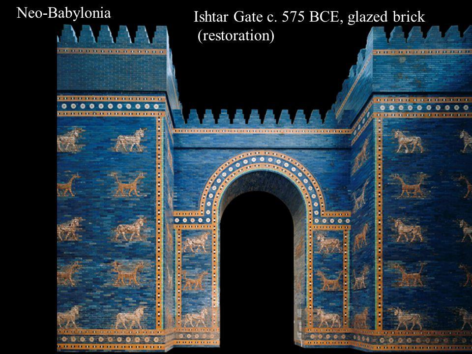 Neo-Babylonia Ishtar Gate c. 575 BCE, glazed brick (restoration)