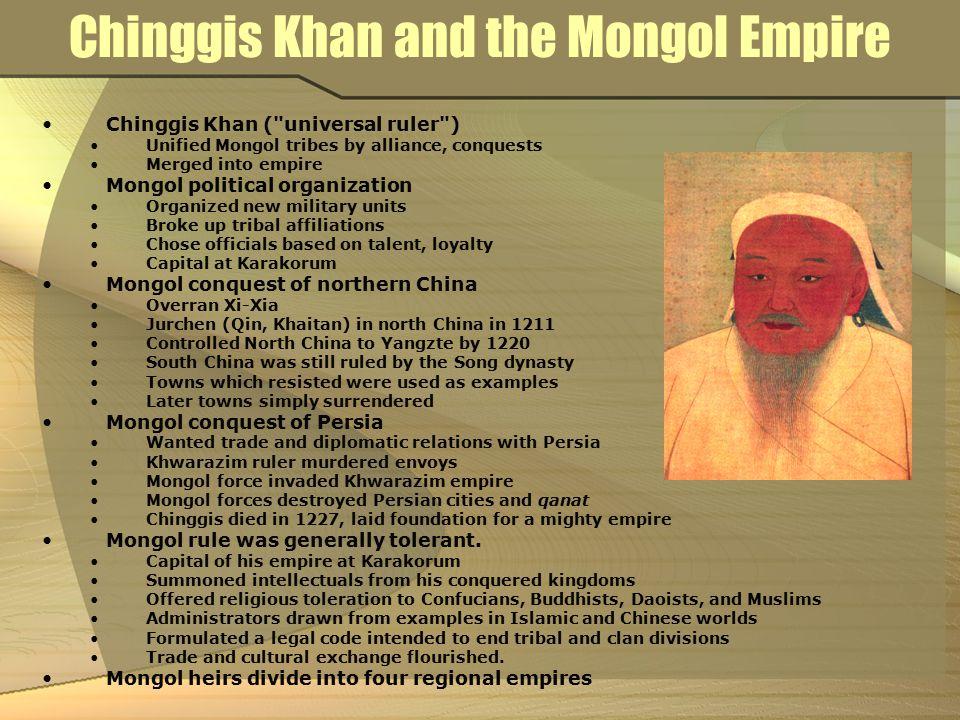 Chinggis Khan and the Mongol Empire Chinggis Khan (