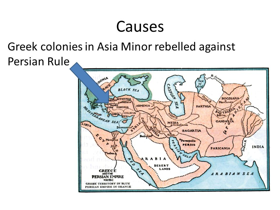 Causes Greek colonies in Asia Minor rebelled against Persian Rule