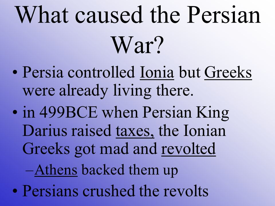 Causes Darius wanted revenge on Athenians for helping so attacked mainland Greece.