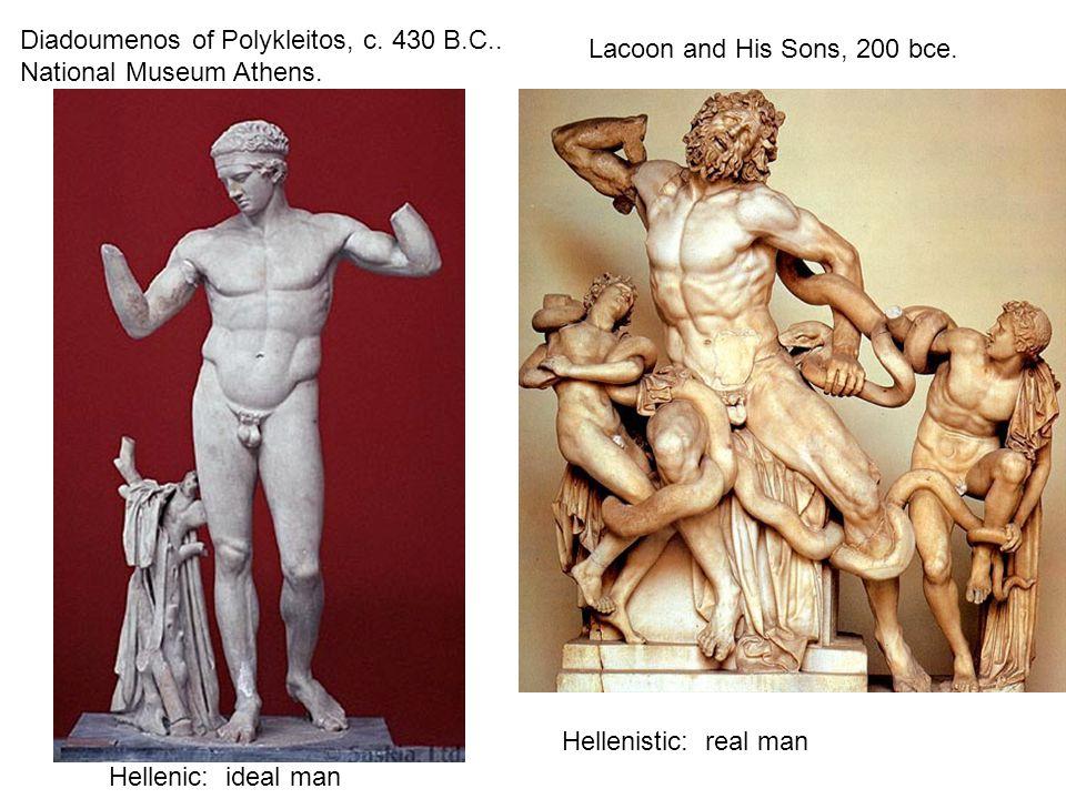 Diadoumenos of Polykleitos, c.430 B.C.. National Museum Athens.