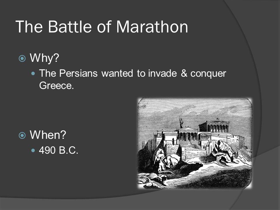 The Battle of Marathon  What happened?