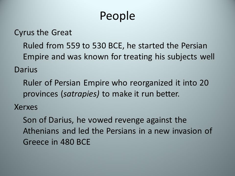 The Rise of Persia Unlike the Assyrians who used force to control a vast empire, the Persians would use tolerance and diplomacy. After the Medes overt