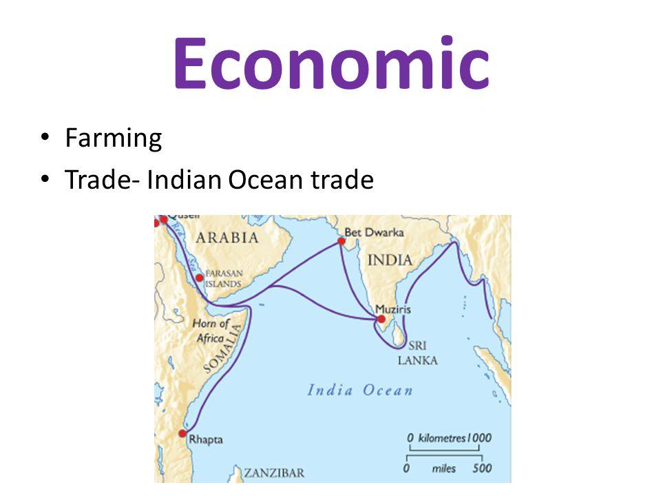 Economic Farming Trade- Indian Ocean trade