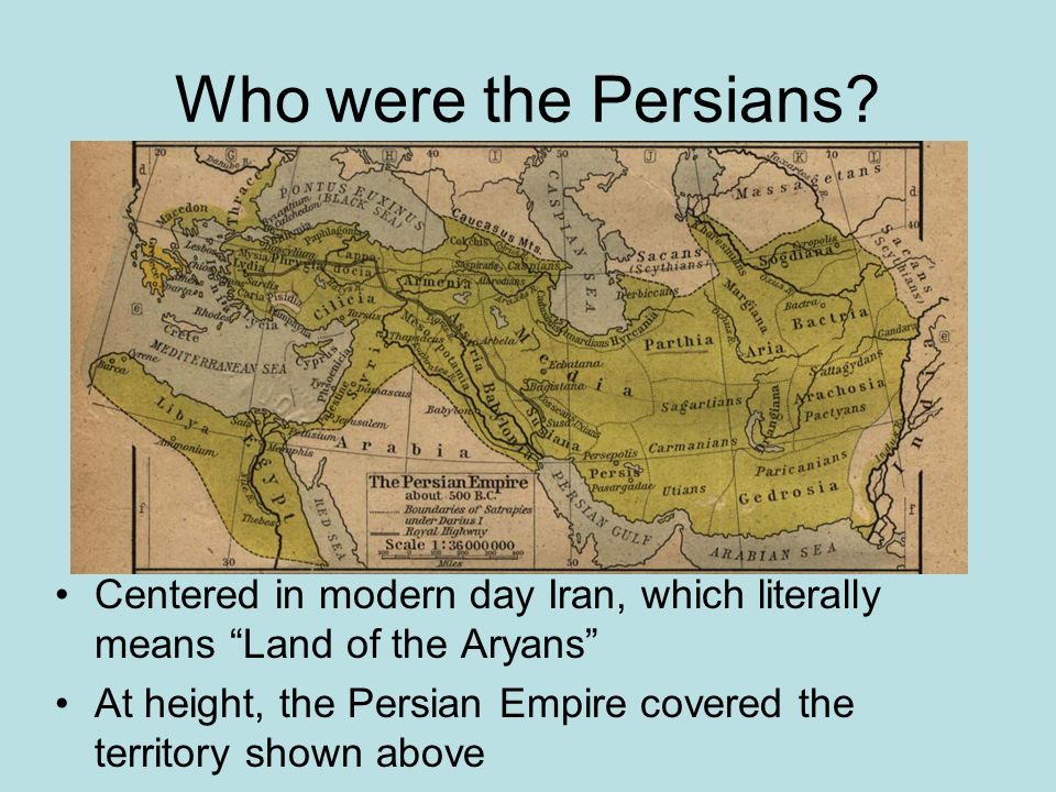Who were the Persians.