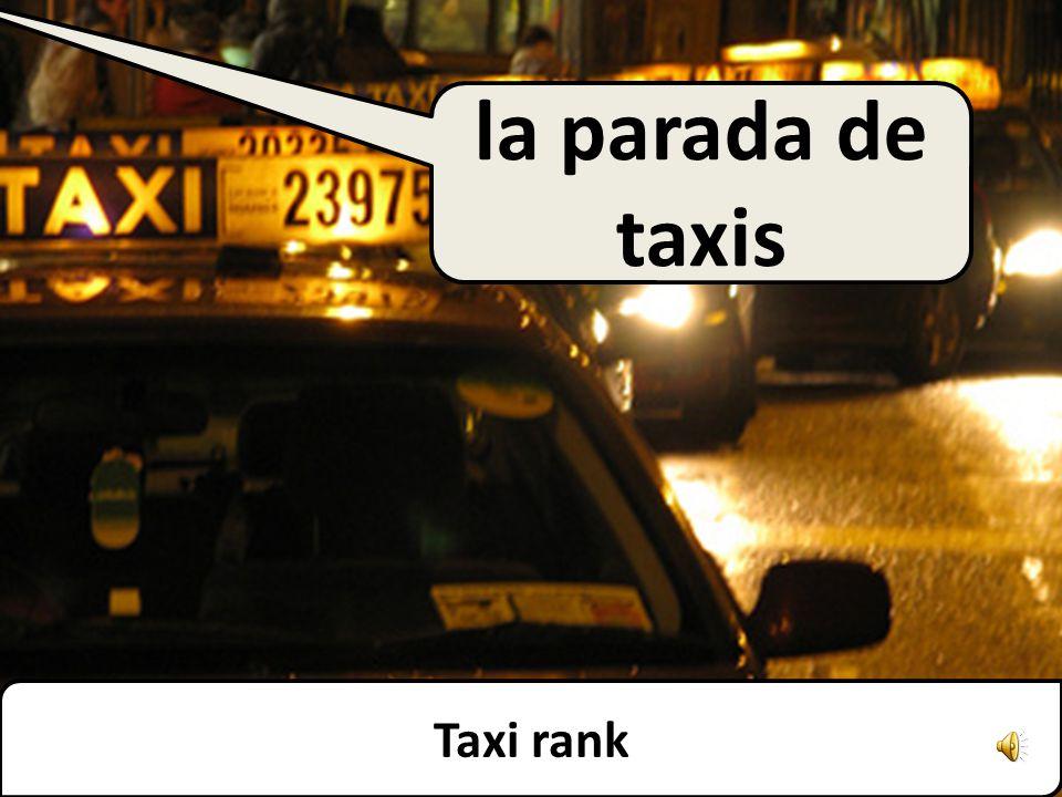 Taxi rank la parada de taxis