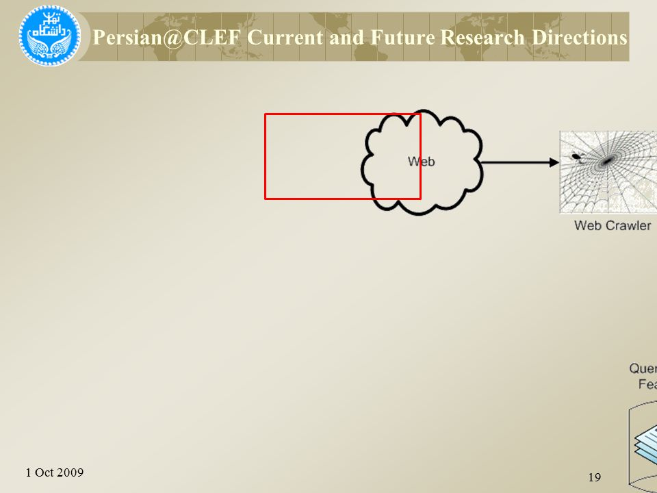1 Oct 2009 19 Persian@CLEF Current and Future Research Directions