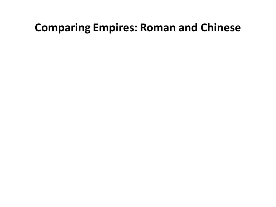 Comparing Empires: Roman and Chinese