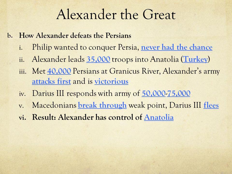 Alexander the Great c.Persia: Egypt i. 332 B.C.