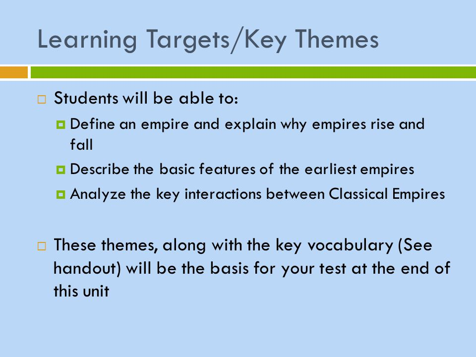 Answer the following questions in your notebook:  How would you define the term empire .