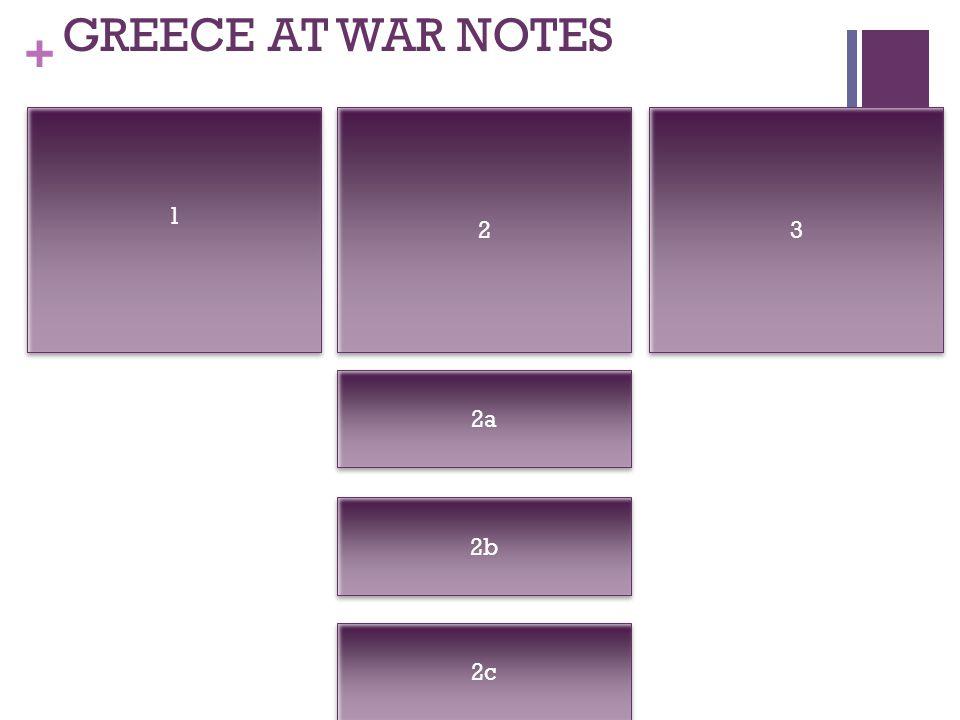 + GREECE AT WAR NOTES 1 1 2 2 3 3 2a 2c 2b