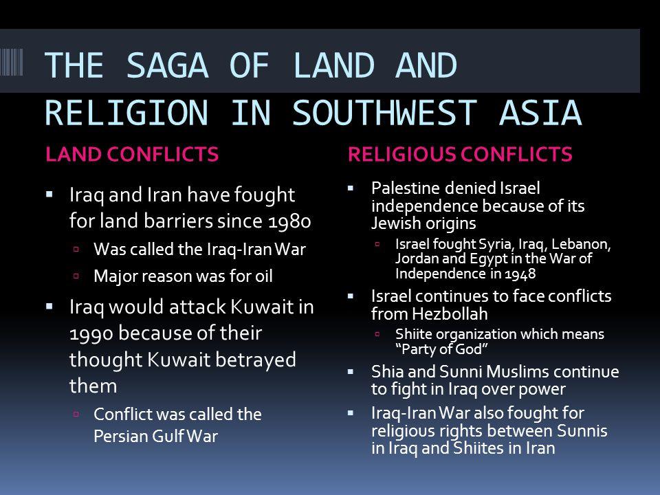 THE UNITED STATES VS.SOUTHWEST ASIA – THE IRAQI WAR  The U.S.