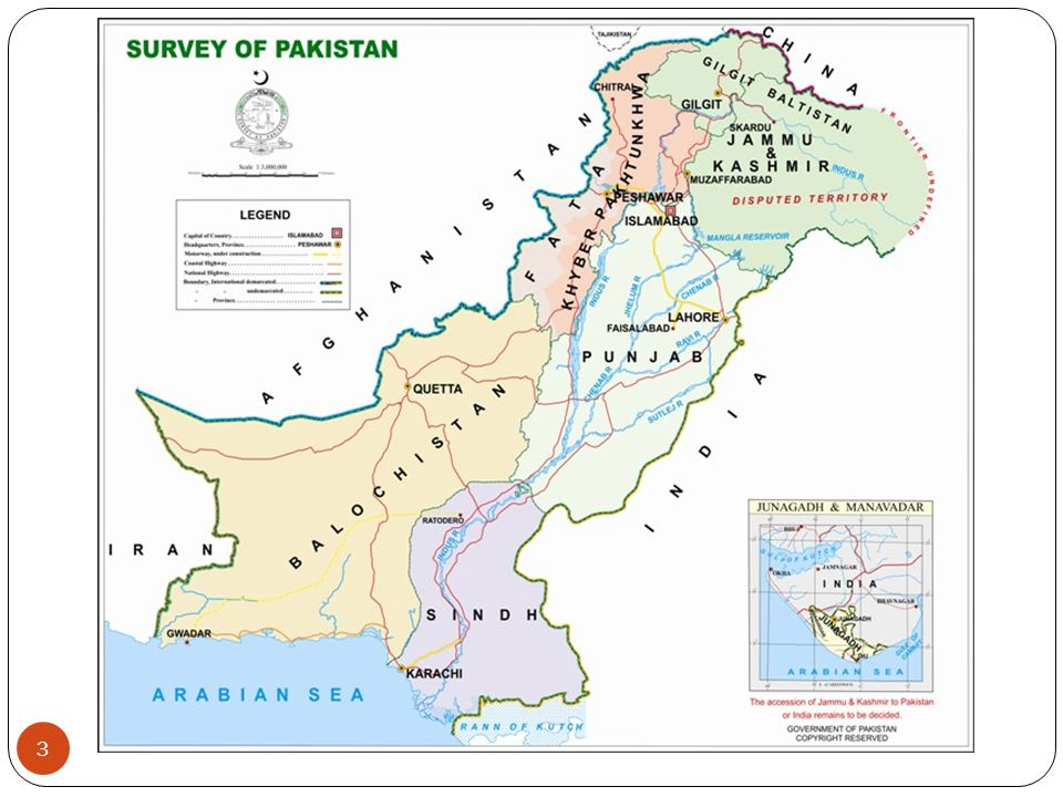 GEO-STRATEGIC IMPORTANCE OF PAKISTAN Location West part of South Asia.