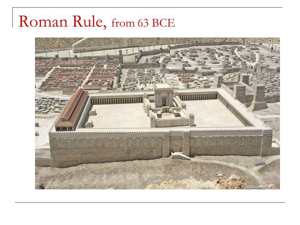 Roman Rule, from 63 BCE
