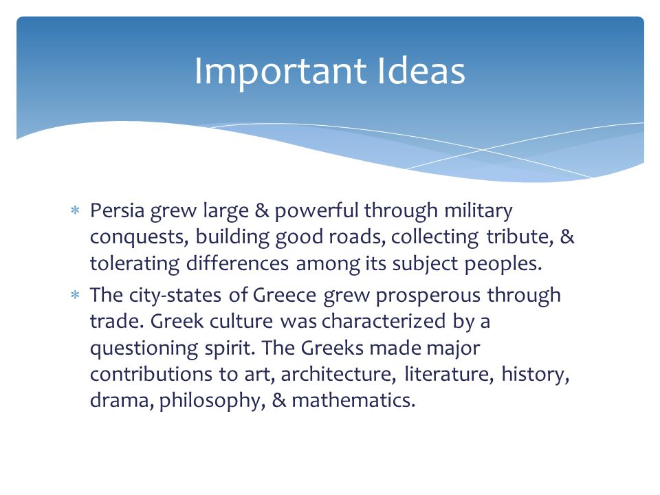  The city-state of Athens developed the world's first democracy.