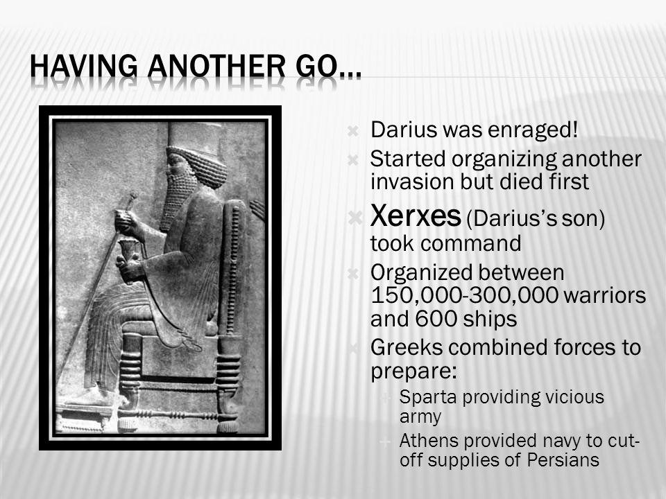  Darius was enraged.