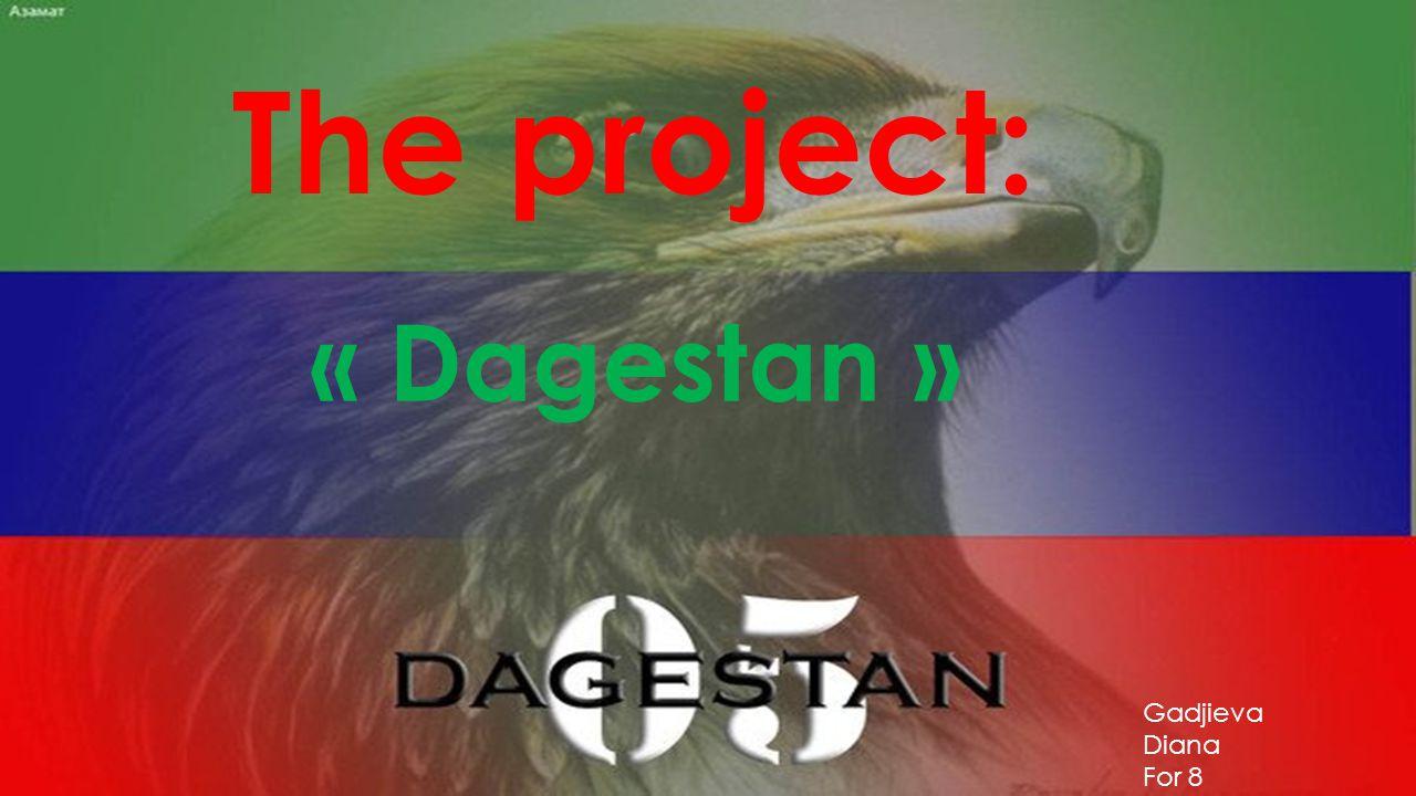 The project: « Dagestan » Gadjieva Diana For 8