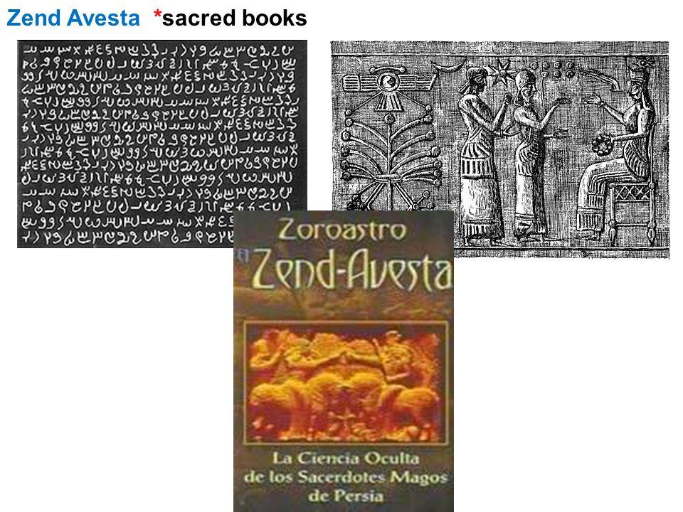 Zend Avesta *sacred books