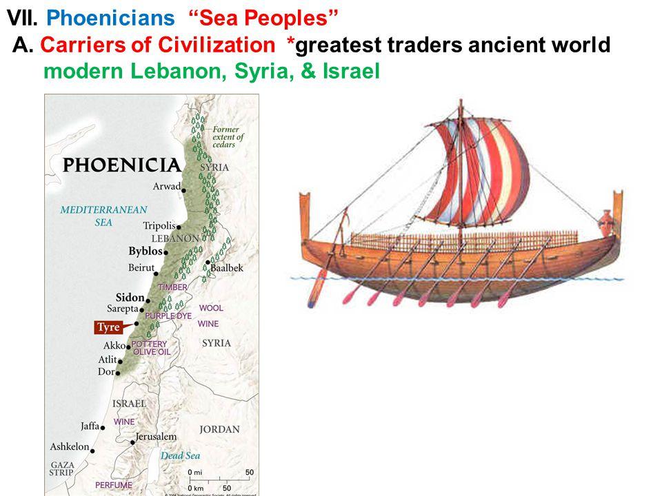 Phoenician traders bartering