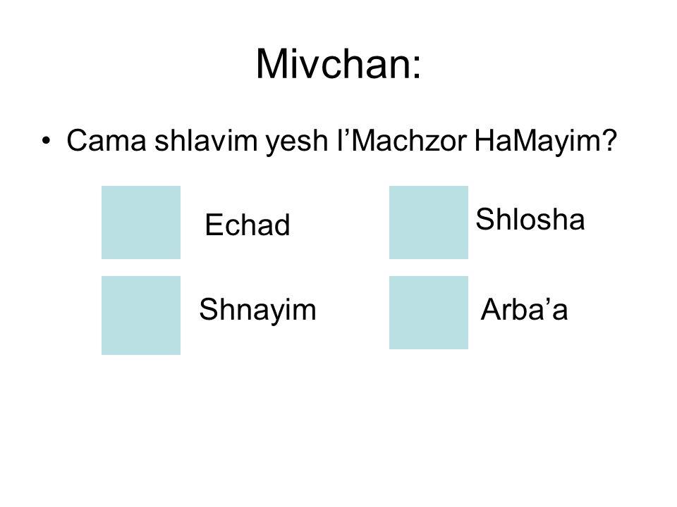 Chazara Clalit Echad - Shnayim - Shlosha- Arba'a Shlavim Mivchan